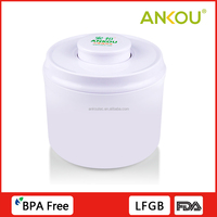 Custom Logo Perfect Airtight PP Material Container , 800ml Round Food Storage Tin Cans
