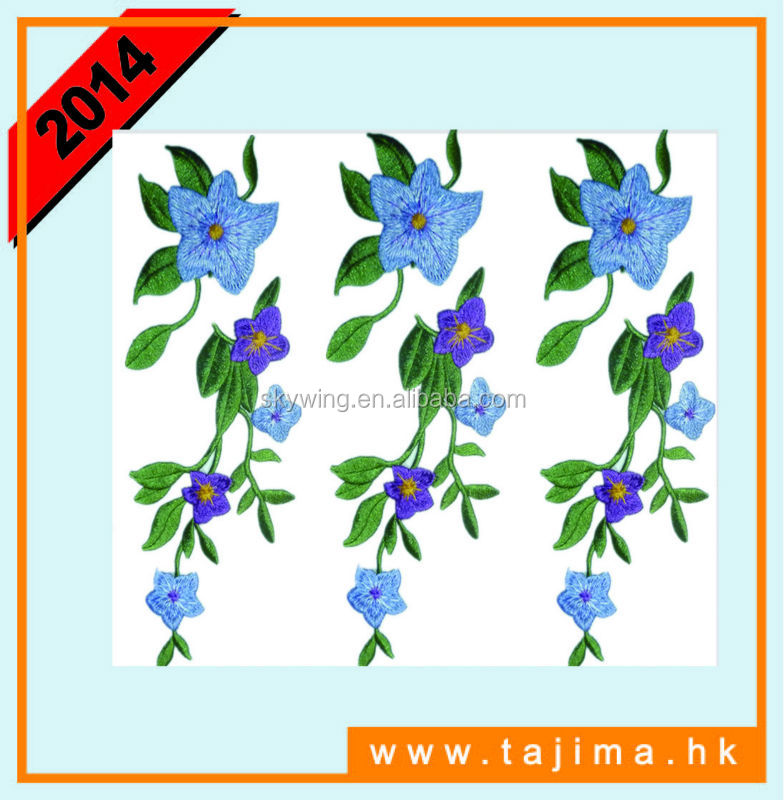 iron on embroidery flower patches for fashion dress