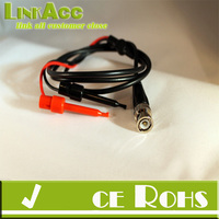 linkacc js-120 BNC male plug Q9 to dual Hook Clip test head probe cable