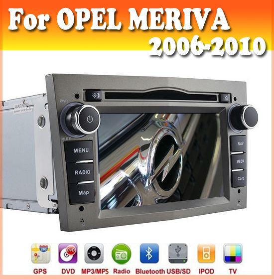 touch sreen car dvd player with GPS Navigation for OPEL MERIVA 2006-2010 with radio bluetooth ipod usb/sd opel car dvd gps