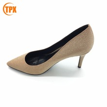 Factory wholesale model sandal latest high heel ladies shoes and pu high heel