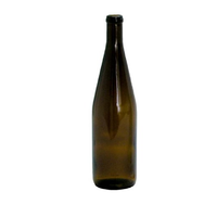 750 ml Amber empty champagne glass bottle with cork