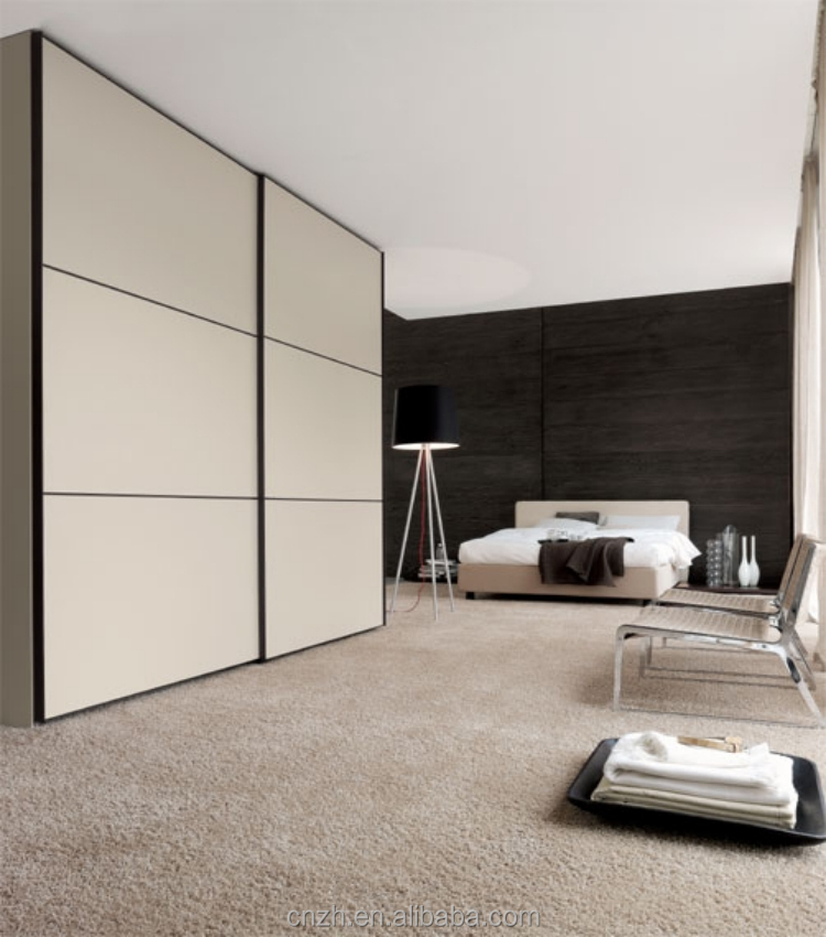 Zhihua modern laminate bedroom wardrobe design in 3 sliding door