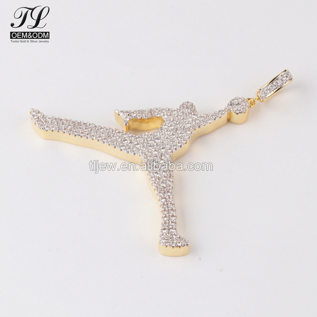 High polish usa iced out jordan pendant+supplies for jewelry pendants