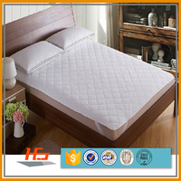 Hot Sale Cotton Fabric Bed Mattress Cover / Pad For Hotel