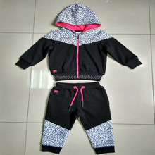 high quality sport wear full zip tracksuit jacke fleece hoodie and pants children sets
