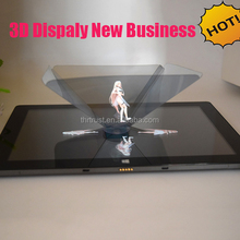 2016 Hot Selling Promotional item OEM logo Smartphone 3D Mini Pyramid Hologram for ipad