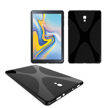 For Samsung Galaxy Tab A 10.5 T590 T595 Back Cover X Line Design TPU Case