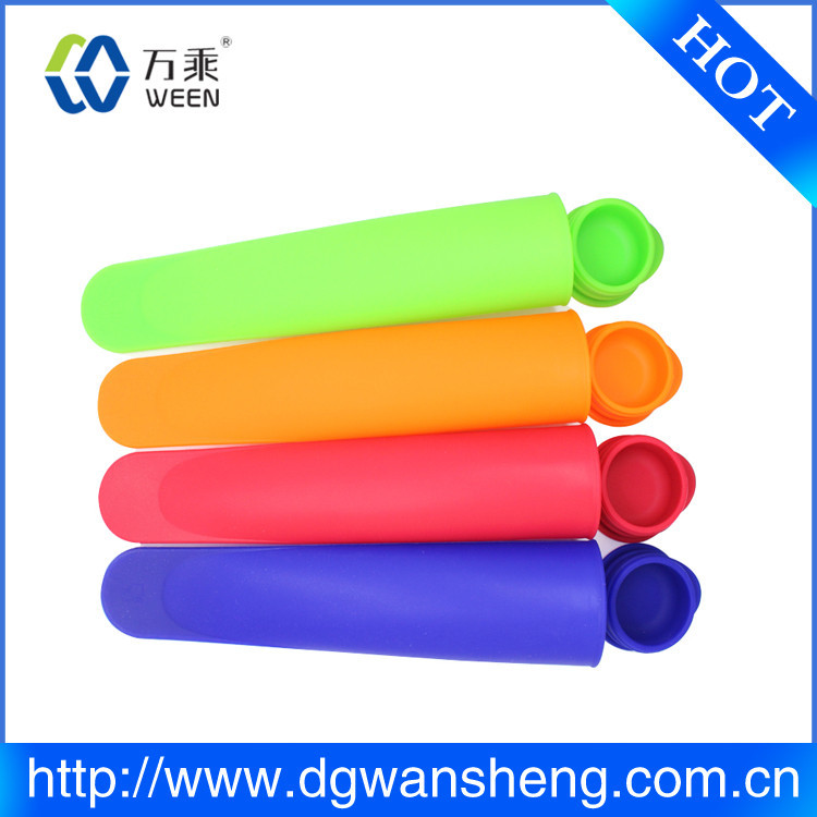 Food Grade BPA Free Colorful Silicone Ice Pop Molds/Series Quality FDA LFGB approved food degree ice pop mold