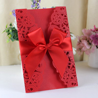 2015 Guangzhou Hot Sale Elegant Scroll Unique Wedding Cards