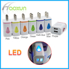 Fast charge 2A in US/EU plug water-drop design travel home adapter dual wall charger with LED