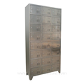24 doors stainless steel smart luggage storage cabinet locker
