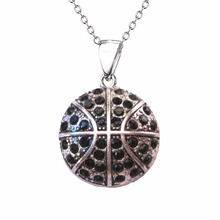 A1068 Yiwu Huilin Jewelry latest design statement fashion jewelry crystal basketball diamond necklace designs
