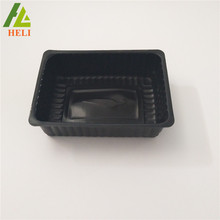 Food grade Custom Black color rectangular disposable plastic oyster tray
