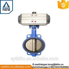 Plastic butterfly valve gear operated with CE certificate