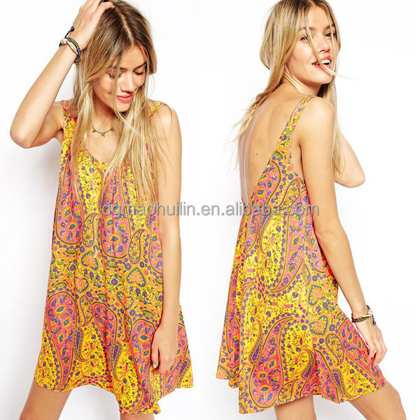 wholesale cheap women woven sleeveless loose dress india boutique dresses