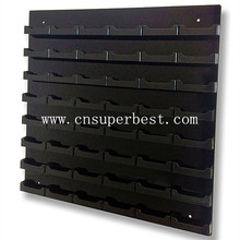 48 Pocket Black Acrylic Business Card Holder Wall Mount