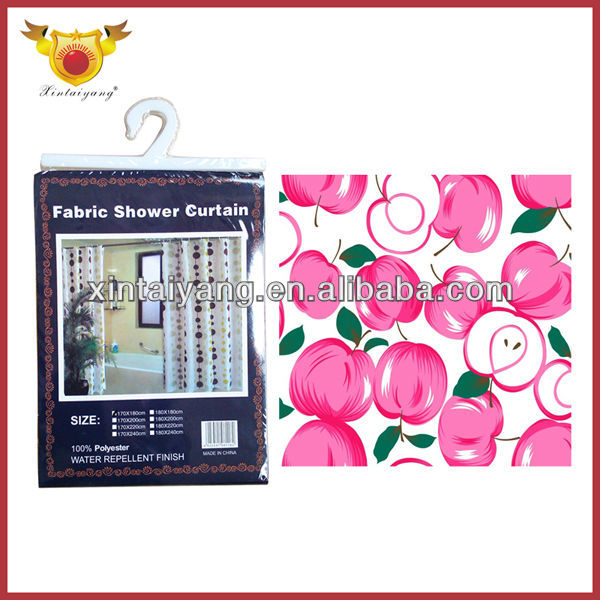 Apple Design Bathroom Shower Unique Kitchen Curtain