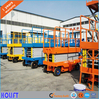 Different Models of model hydraulic manual mobile scissor lifts With CE certificates