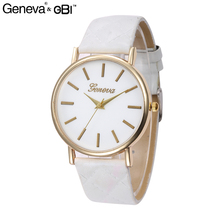 GENEVA 08 Promotional Cheap Price Simple Style Watch Leather Band Alloy Case Roma Dial Watches