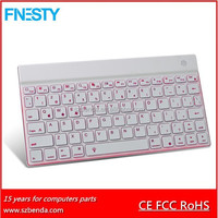 Aluminum Backlight Bluetooth Keyboard for ipad ,iphone ,smartpone,Samsung Galaxy ,Android tablet ,PC .