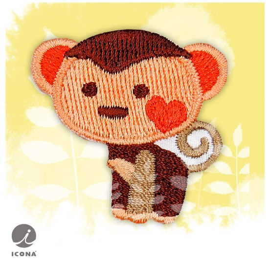 DEAR ZOO <strong>EMBROIDERY</strong> PATCH <strong>Monkey</strong>