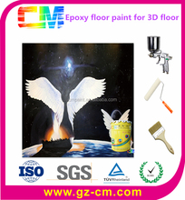 Hot Sale Waterbased Chemicals Resistant 3D Epoxy Resin Floor Painting