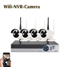 Hot 4CH 720P 960P 1MP Mobile wireless NVR waterproof outdoor IR night smart home CCTV security systems onvif ip Wifi Camera Kit