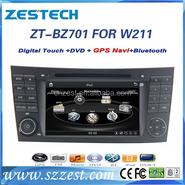 ZESTECH gps WIN CE car pc audio video GPS+DVD+RDS+AUX+TV+RADIO For Mercedes-Benz E-Class W211 car audio player with bluetooth