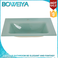 15mm Thick Flat Edge Undermount Molded Bathroom Sinks