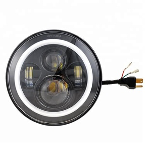 Factory price 7 inch led headlight for jeep and Harley motorcycle, round 7'' head light