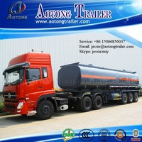 2015 how new product 3 axles 50000 liters fuel tanker semi trailer/petrol tank truck trailer/oil tank trailer for sale