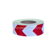 Red-white color Arrow design Advertising Grade Quality Glass Beads Light Safety Warning Reflective Tapes