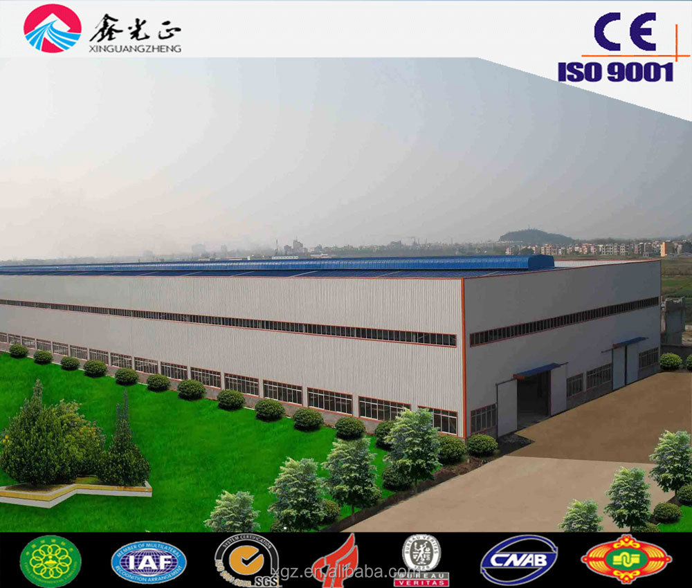 XGZ large span steel structure buildings,warehouse building plans,materials of warehouse building