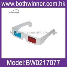 Paper circular polarized passive 3d glasses ,H0T547 3d glasses for normal monitor , paper cardboard 3d firework glasses