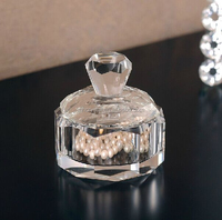 crystal glass trinket box with lid MH-QT0387