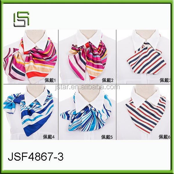 The new 2017 vintage scarves printing scarves female Korean decoration satin scarves