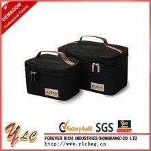 Black Picnic Sturdy Polyester Lunch Food Drink Thermal Cooler Bag Tote Set of 2