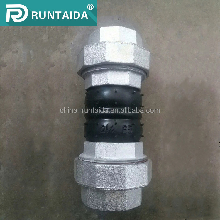 Flexible jgd screwed epdm rubber expansion joints with double sphere