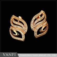wholesale new model cheap muslim jewelry gold plated stud earring base