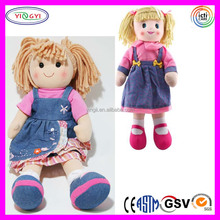 B069 Giant Rag Girl Doll Jeans Dresses T-shirt Stuffed Soft Toddler Gifts 130cm Doll
