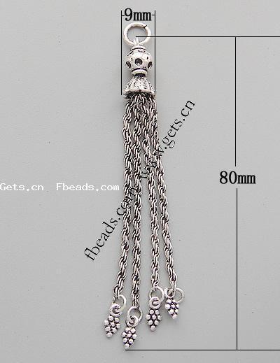 Gets.com zinc alloy beaded tassel fringe trimming for curtain