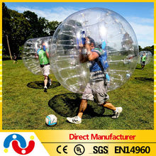 Top quality crazy inflatable belly bubble ball inflatable balls for people team game