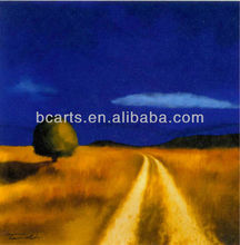 BC13-1630 Handmade Landscape the Way to Home Oil Paintings for Living Room