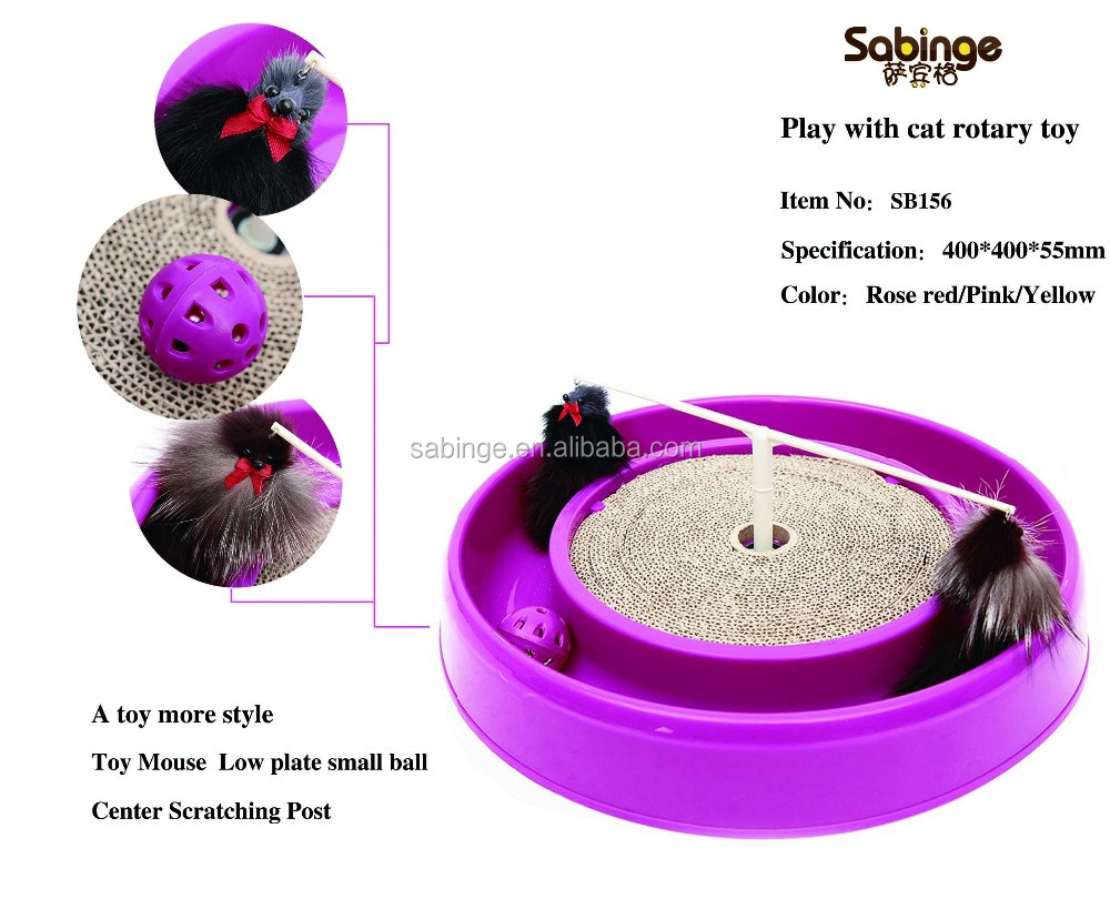 2016 New design Cat Scratching Post with a small mouse for play/Cat scratch board/Bergan Turbo Scratcher Cat Toy