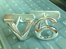 Custom and Wholesale Brand new 3D Chrome Metal V6 Logo Car Front Grille Grill Badge Decal Hood Emblem