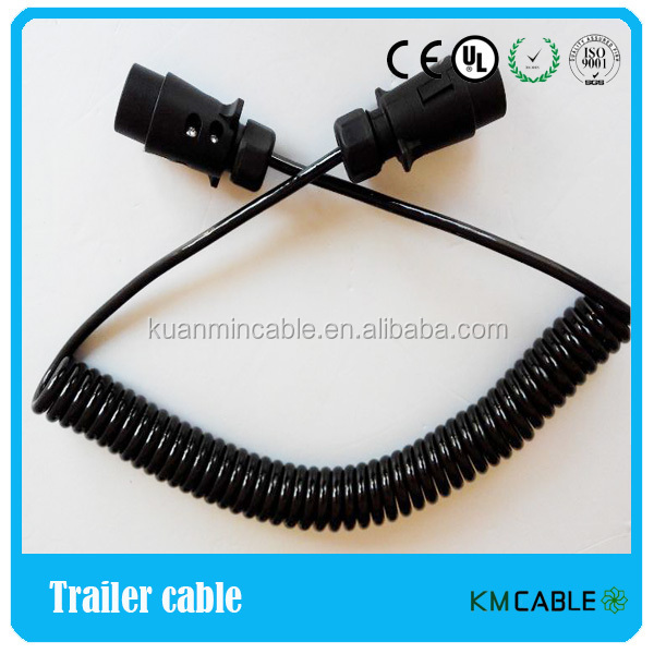 6 wire coiled trailer wiring harness 6 wire cable