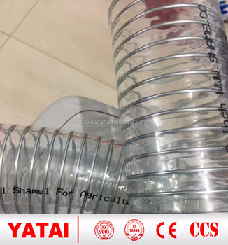 Clear steel wire spiral pvc hose