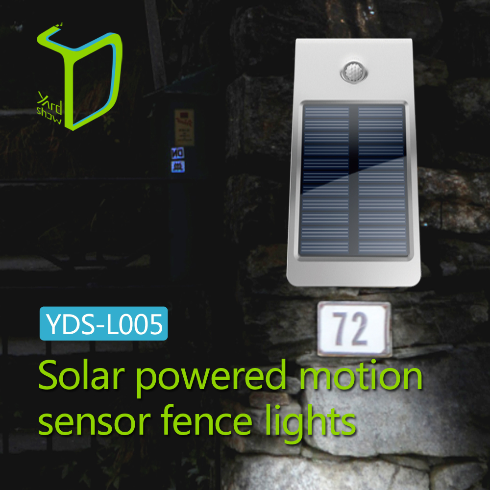 Yardshow High Power energy saving led garden light solar Fence Light