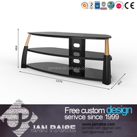 Living room furniture outdoor glass tv stand